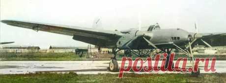 """СБ-2 """"Птеродактиль"""" с экспериментальным шасси archivetechburo.ru СБ-2 """"Птеродактиль"""" является неофициальным названием самолета с экспериментальным трехстоечным шасси с носовым колесом, проходившим испытания"""