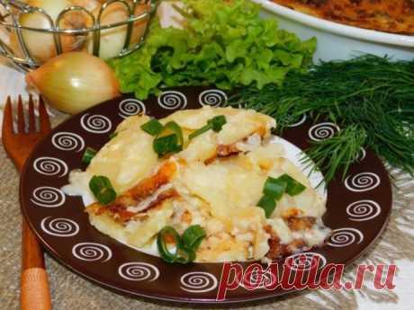 Картофельная запеканка со сливками и сыром