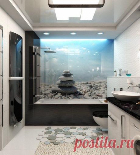 Дизайнерские идеи для ванной комнаты