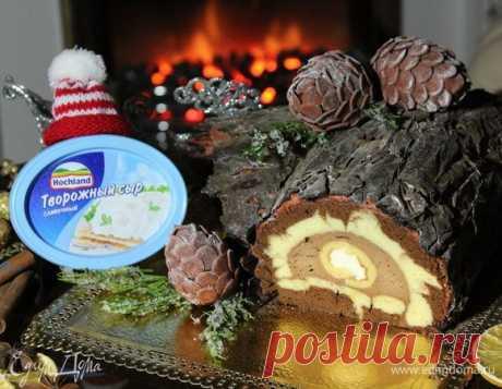 Рождественское полено. Ингредиенты: яичные желтки, мука, сахар