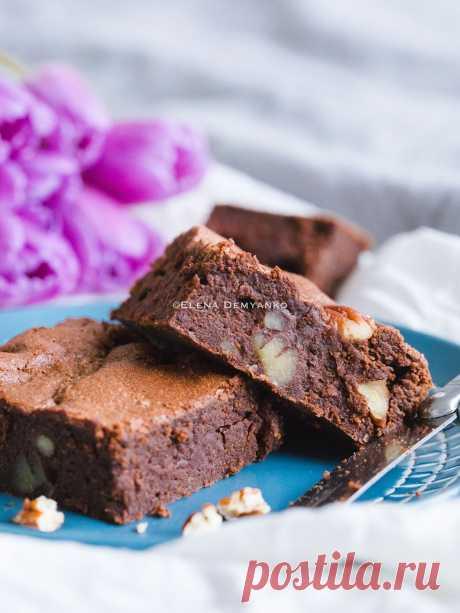 Elena Demyanko: Бархатный брауни с пеканом / Velvet pecan brownies