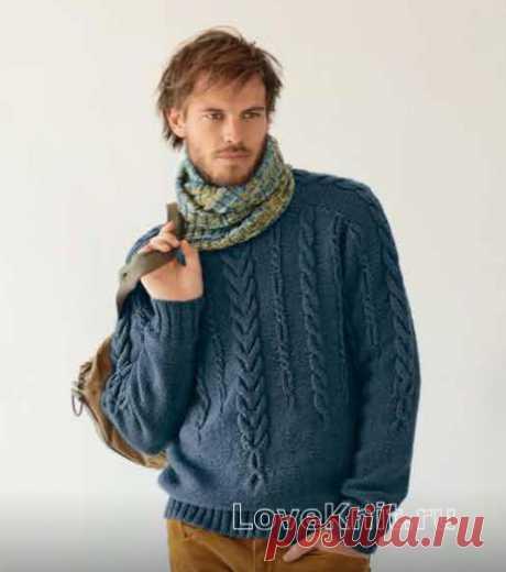 Превосходный уютный свитер для любимого мужчины - строго и со вкусом
