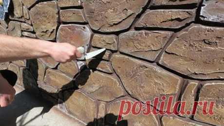 Оформление цоколя под декоративный камень, оформление окна, декор под ковку из цемента .