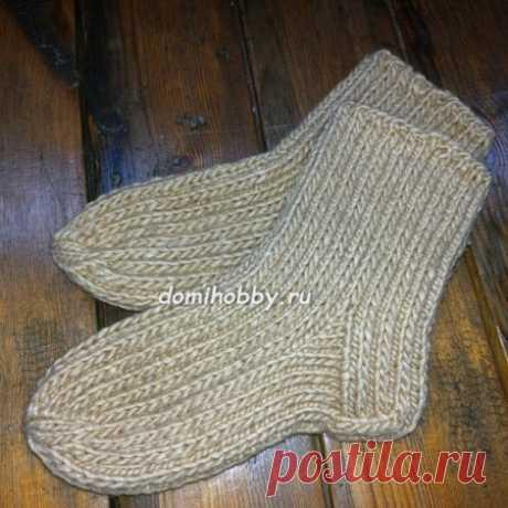 Как связать тёплые прочные носки