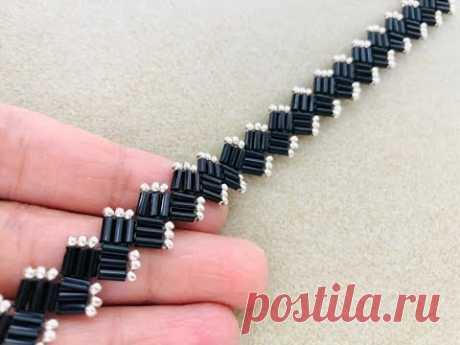 Bugle bead vine Bracelet || DIY Beaded Bracelet