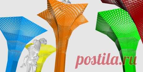 Макет параметрического дизайна Цветов