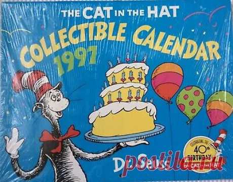 CAT IN THE HAT -  COLLECTIBLE CALENDAR 1997 40th B'day Dr. Seuss 9780676760545 | eBay 1997 CAT IN THE HAT COLLECTIBLE CALENDAR Dr. Seuss. Condition is new, unopened.