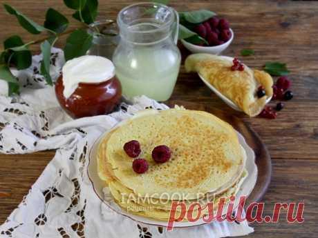 Толстые блины на сыворотке — рецепт с фото Пышные блины с дырочками на сыворотке получаются похожими на американские панкейки, только побольше в диаметре...
