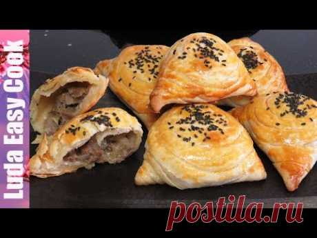 SAMOSA PUFF HOUSE WITH MEAT IN the OVEN OBEDENIE | is simple Uzbek Samsa recipe