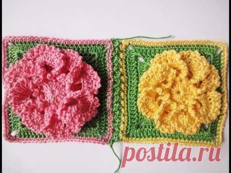 Connection of squares Compound squares Crochet