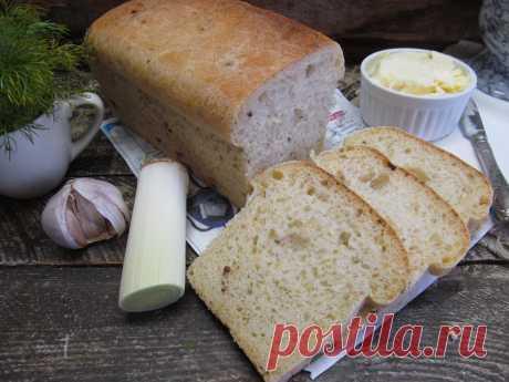 Пшеничный хлеб с луком-порей тимьяном и кориандром | Кулинарные рецепты с фото пошагово