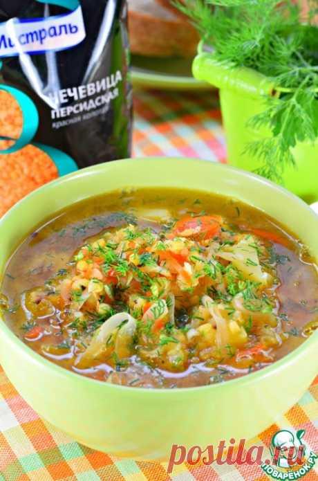 Чечевичный суп с квашеной капустой - кулинарный рецепт