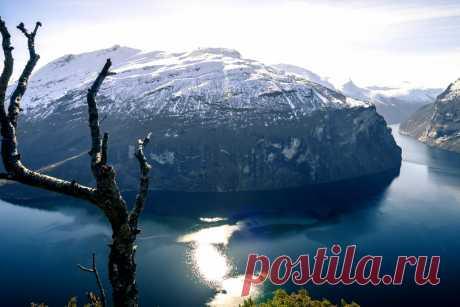 4K захватывающий таймлапс Норвежских фьорд
