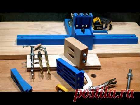 Столярные Хитрости.  Соединение на Косой Шуруп. Самоделка. DIY Pocket Hole Jig