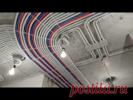 Принцип электропроводки в доме из сип панелей
