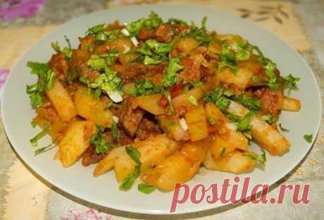 Как приготовить азу по-татарски с картофелем. - рецепт, ингредиенты и фотографии