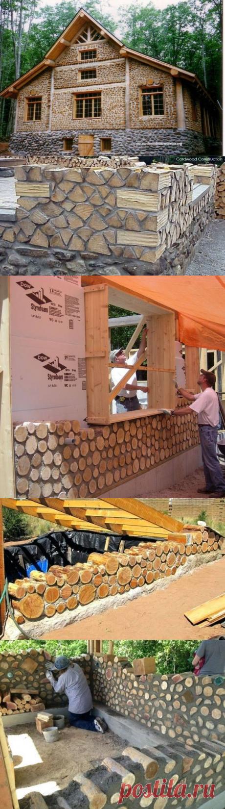 Как строят дома из дров и глины - Как это сделано, как это работает, как это устроено