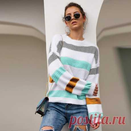 Женский трикотажный свитер, Свободный Повседневный пуловер с круглым вырезом и длинными рукавами реглан разных цветов, уличная одежда|Водолазки| Детские жаккарды| роспись по ткани | готовые выкройки |
