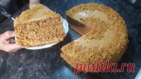 Без САХАРА Без ЯИЦ Потрясающий ВКУСНЫЙ Торт к чаю из того, что есть Каждый День | Easy Cake Recipe