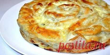 Пирог «Лаваш в заливке» Прекрасный вариант пирога к завтраку или к ужину. Очень быстро готовится!