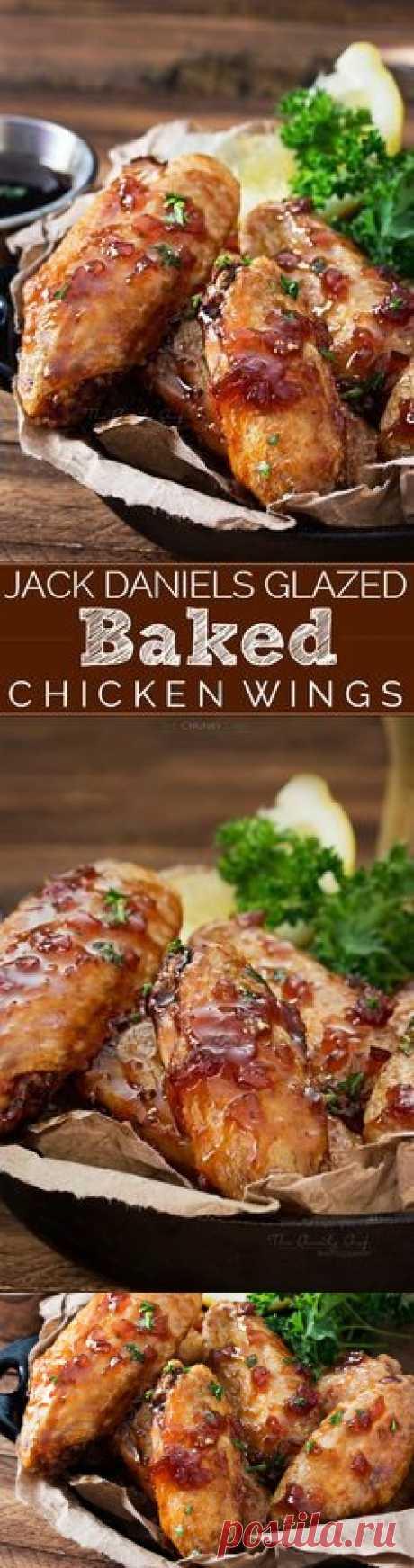 Jack Daniels Glazed Baked Chicken Wings