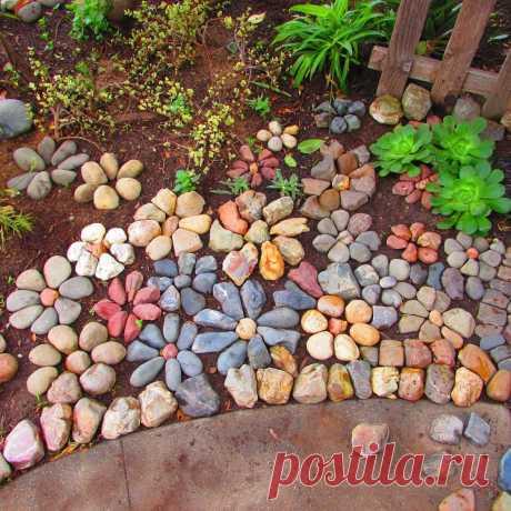 Клумбы из камней: идеи для дачи — Сделай сам, идеи для творчества - DIY Ideas