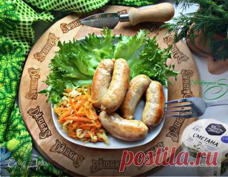 Домашние куриные колбаски. Ингредиенты: курица тушка, чеснок, сливочное масло