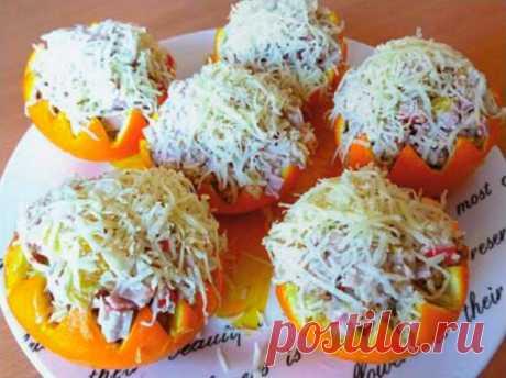 Лучшие кулинарные рецепты : Салат «Новогодний апельсин»