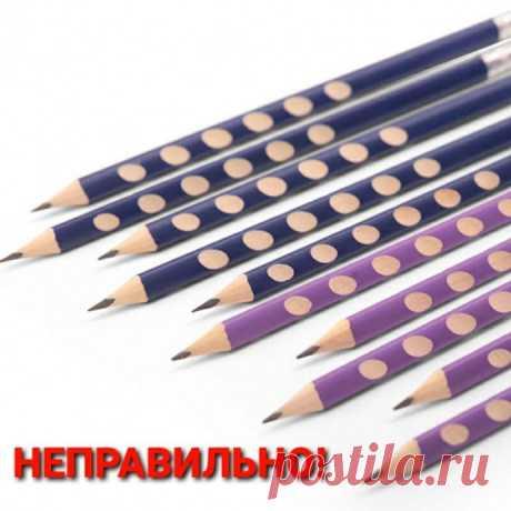 Учимся правильно затачивать простые карандаши для рисования