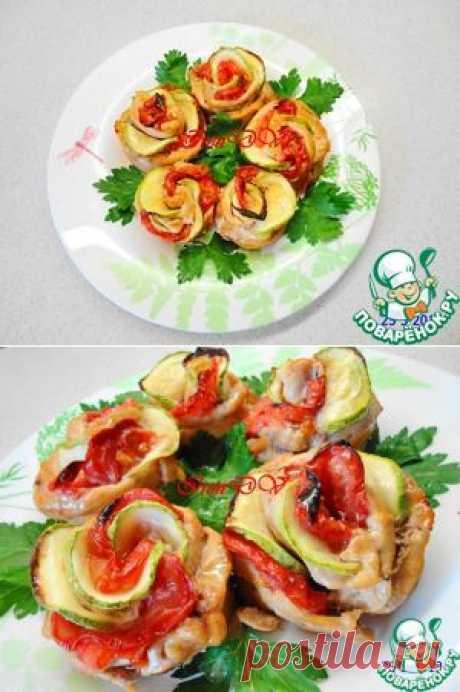 """Горячее блюдо """"Куриные розочки"""" - кулинарный рецепт"""