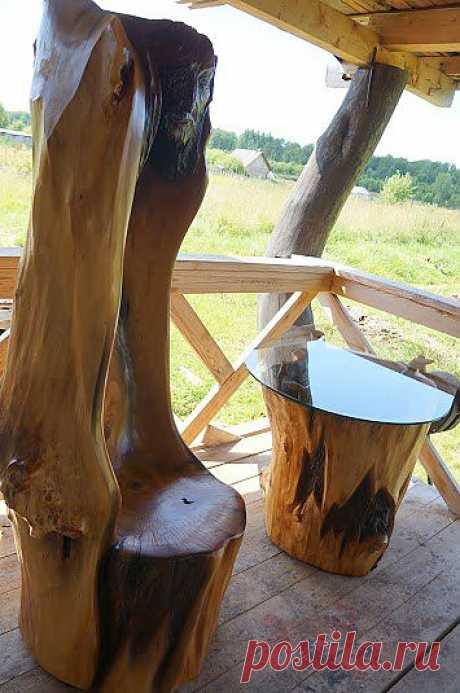 """Комплект садовой мебели """"Уединение"""" (стол и кресло) Всего 4 предмета."""