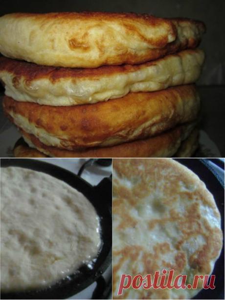 С этим рецептом забудешь, что такое хлеб - пушистые лепешки на кефире: вкусно и быстро