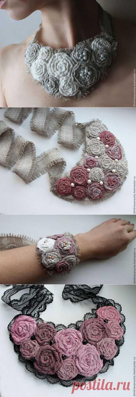 Территория БОХО: Текстильные украшения мастера Анастасии Дмитриевой.