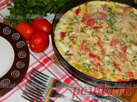 СОЧНАЯ РЫБКА, ЗАПЕЧЕННАЯ С ОВОЩАМИ В НЕЖНОМ ОМЛЕТЕ Омлет с рыбой и овощами - вкусный и сытный. Его можно подать и на завтрак, и на ужин. Прекрасное блюдо для всей семьи!  Для его приготовления подойдет филе любой рыбы, главное, чтобы в нем не было ни …