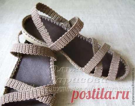 Мастер-класс: вязаные сандалии или обувь из ничего — DIYIdeas