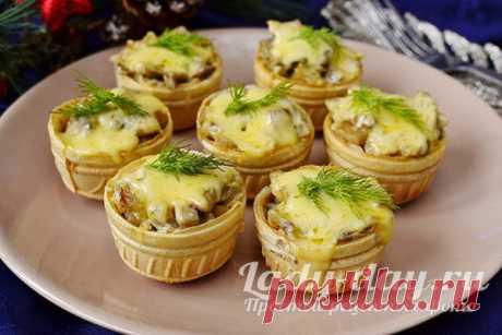 Жульен в тарталетках с грибами и сыром, рецепт с фото   Простые рецепты с фото