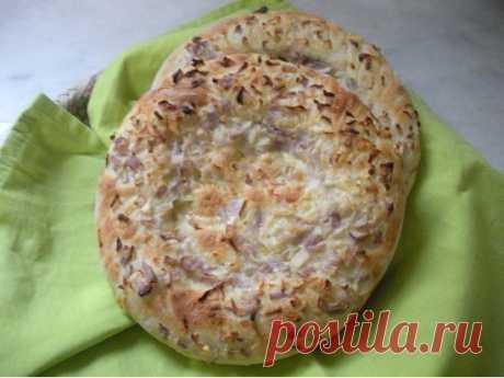 Узбекские Патир нан с луком рецепт с фото