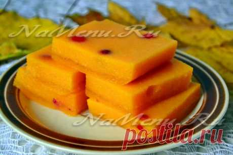 Recipe of jelly from pumpkin