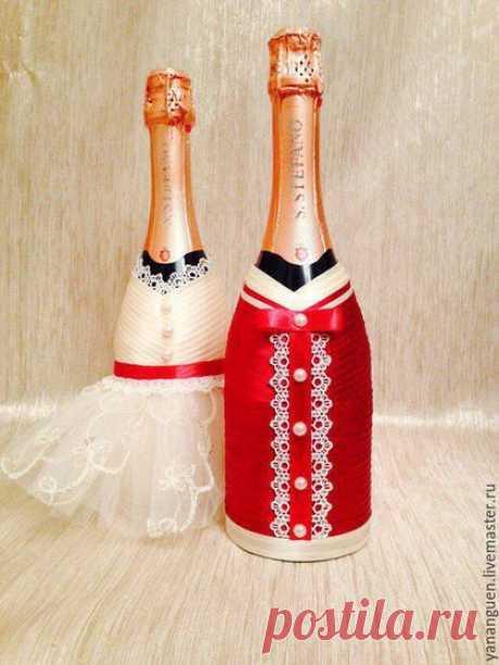 Купить Свадебные аксессары - комбинированный, свадьба в бордовом цвете, жених и невеста, кружево, атласная лента