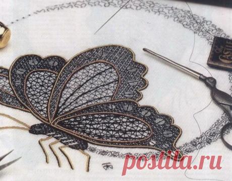 Blackwork-старинная техника вышивки | Золотое рукоделие | Яндекс Дзен