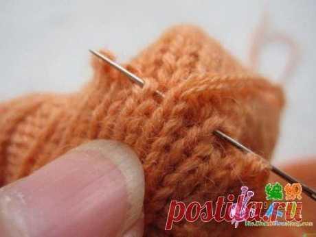 Как присоединить ворот к горловине свитера\джемпера, связанного снизу вверх