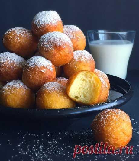 Сладкие пончики из творожного теста — Sloosh – кулинарные рецепты