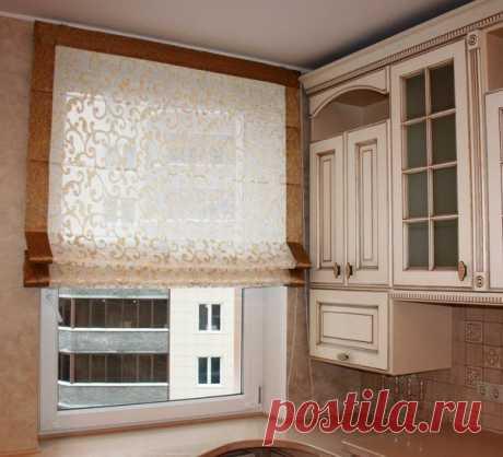 Римские шторы на кухню – как выбрать или изготовить своими руками - Сайт о строительстве