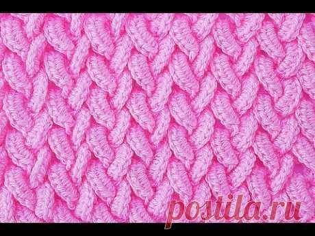 PUNTADA ESPIGAS CRUZADAS PARA MANTAS Y COBIJAS #crochet #ganchillo