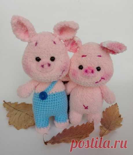 Плюшевые свинки амигуруми | Схемы игрушек амигуруми
