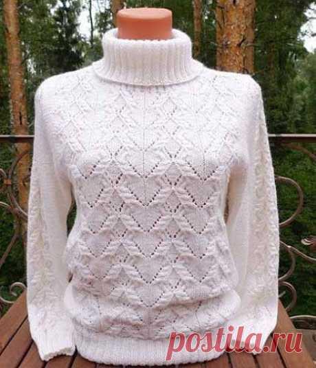 Красивый узор для свитера и пуловера