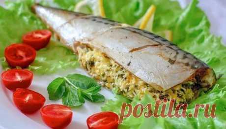 Фаршированная скумбрия с грибами — Sloosh – кулинарные рецепты