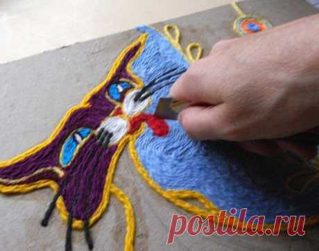 Рисуем нитками | Хитрости жизни