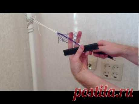 Part.1 Easy and fast way of knitting of a fishing net. Detailed description. - YouTube