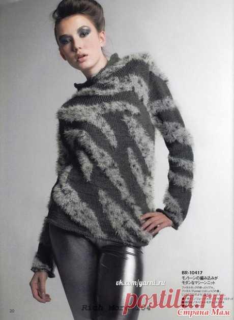 Пуловер итарсией (азиатская схема) - Жаккард - Страна Мам